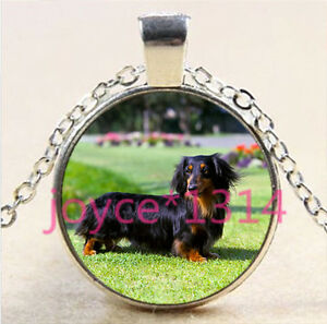 Dog make life better Cabochon Glass Tibet Silver Chain Pendant Necklace