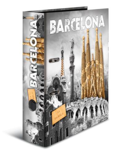 "DIN A4 /""Barcelona/"" 70mm breit Motivordner"