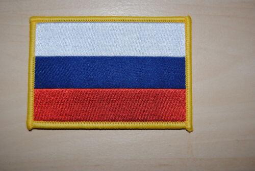 Ricamate aufbügler Patch Bandiera Bandiera Russia Calcio Da collezione Nuovo RU 3