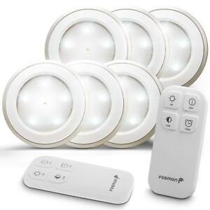 Details About Fosmon Wireless Led Puck Light 6 Pack With Remote Control Under Cabinet