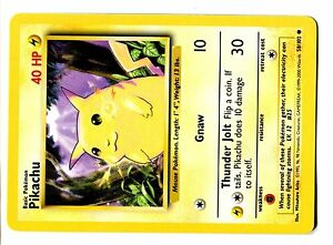 POKEMON BASE SERIE English 4th Edition CARD 2000 N° 58/102 PIKACHU