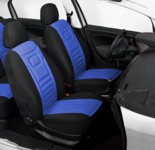 2 BLUE HIGH QUALITY FRONT CAR SEAT COVERS PROTECTORS FOR VAUXHALL TIGRA