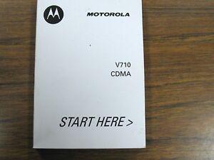 motorola v series v710 cdma mobile cell wireless phone user manual rh ebay com Motorola 60I Verizon V710