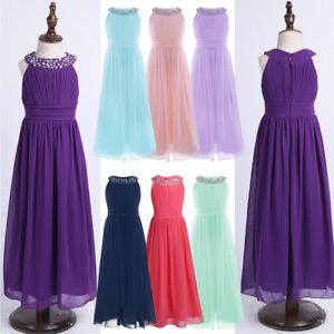 online store 59f2b d81e1 Details zu Kinder Mädchen Sommerkleid Chiffonkleid Abendkleid  Kommunionkleid Cocktailkleid