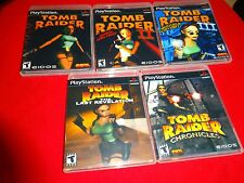 EMPTY CASES Tomb Raider Collection 1 2 3 Revelation Chronicles Playstation 1 PS1
