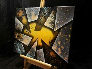 Peinture-tableau-huile-sur-toile-abstraite-format-40-50-cm