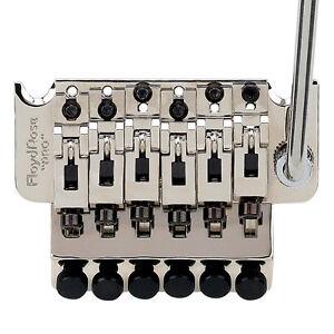 Appris Authentique Floyd Rose 1000 Series Pro Tremolo: Nickel, R2 écrou-afficher Le Titre D'origine