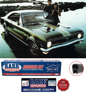 HOLDEN-HT-MONARO-amp-GTS-COUPE-BODY-RUBBER-KIT-WITH-BLACK-PINCHWELD