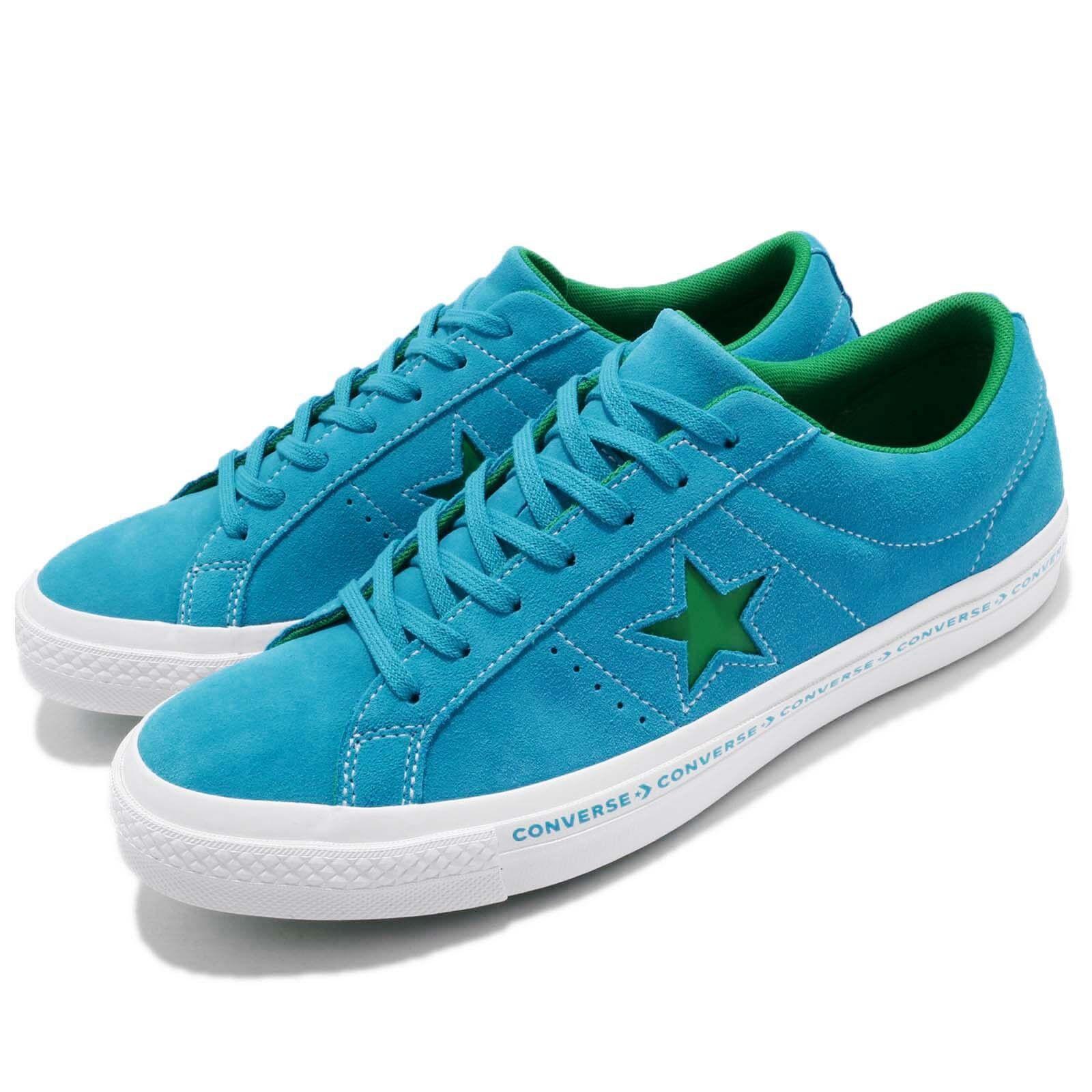 Converse One Star Pinstripe blu verde Suede Mens donna scarpe scarpe da ginnastica 159813C