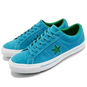 Star Green Mens Womens Suede Blue Shoes Converse One Pinstripe PkOwX8n0