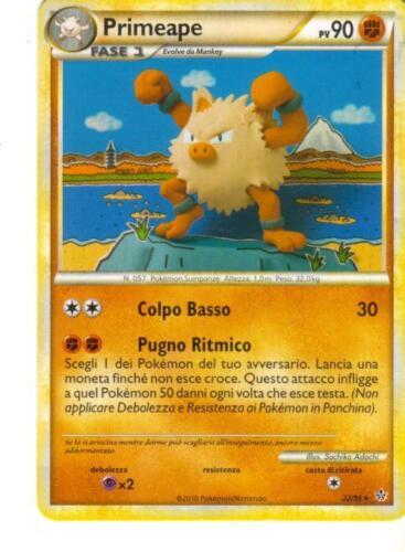 22//95-90PV CARTA POKEMON BEN TENUTA IN ITALIANO PRIMEAPE RARA