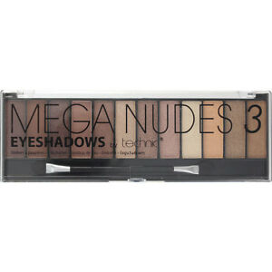 Technic Eyeshadow Palette Mega Nudes 3 12 Colour Build Different Looks 5021769255093