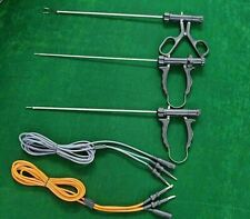 Addler 3pc Laparoscopic Bipolar Forceps With Cable 5mmx330mm Surgical Instrument