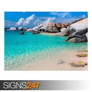 SUMMER-BEACH-SCENE-AD966-NATURE-POSTER-Photo-Poster-Print-Art-A0-A1-A2-A3-A4