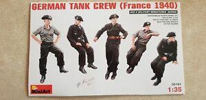 Miniart-35191-GERMAN-TANK-CREW-France-1940-5-figures