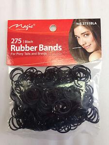 275 Black Rubber Bands