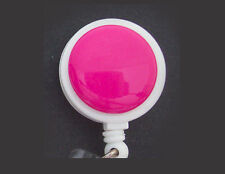 HOT PINK Retractable Reel ID Badge Holder/Key Chain Ring/Security Card