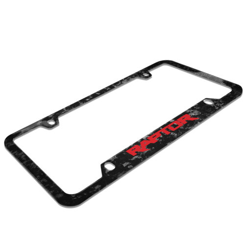 Details about  /Ford F-150 Raptor in Red Real Forged Carbon Fiber 50 States License Plate Frame