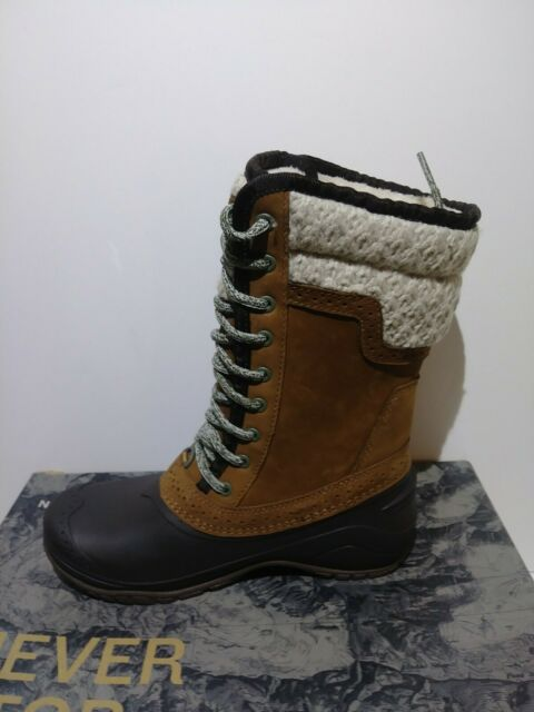 The North Face Womens Shellista II Mid Boots Size 5M Dachshund Brown New