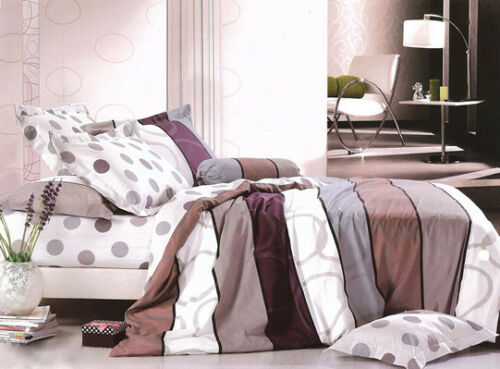 New Ardor ANDRE Stone 250TC 100/% Cotton KING Size Quilt Doona Cover Set