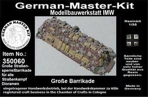 350060-Ladegut-1-35-Grosse-Strassensperre-Barrikade-Resin-WWII-GMK-World