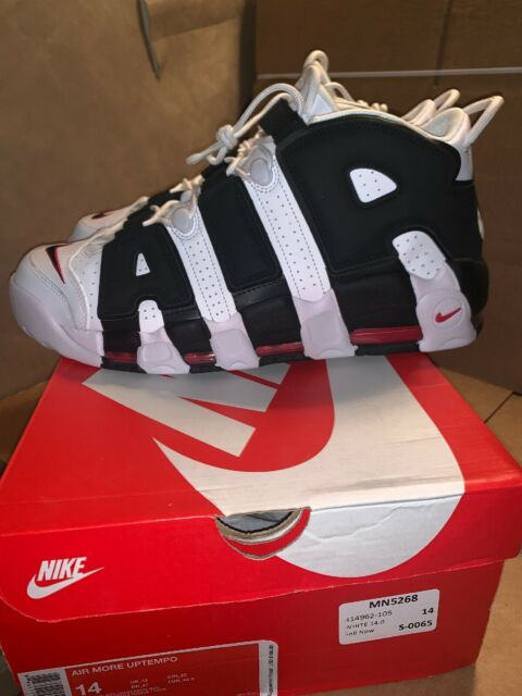 2017 Nike Air More Uptempo 'Scottie Pippen' PE White and Black Varsity Red For Sale