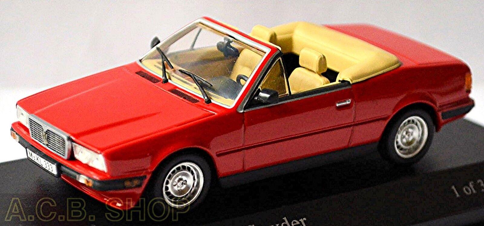 Maserati Biturbo Spyder 1984-88 rouge Maserati Rouge rouge 1 43 MINICHAMPS 400123530