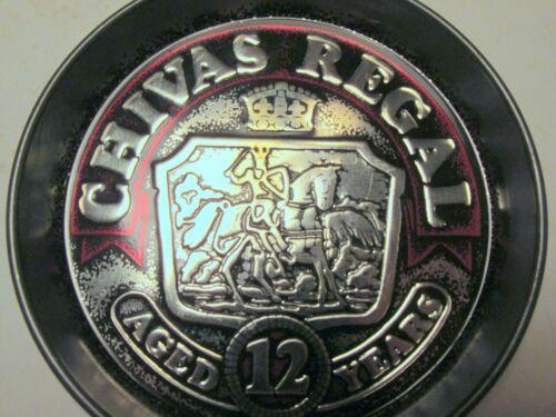Set of 12 Vintage Metal Chivas Regal Coasters