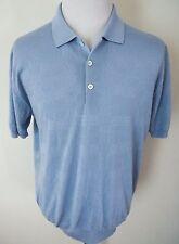 $1025 NWT BRIONI Light Blue Cashmere Wool Silk Polo Knit Shirt Size Large
