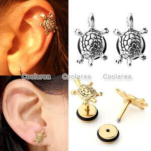 Pair-16G-1-4-034-Tortoise-Turtle-Ear-Tragus-Cartilage-Helix-Stud-Earrings-Piercing