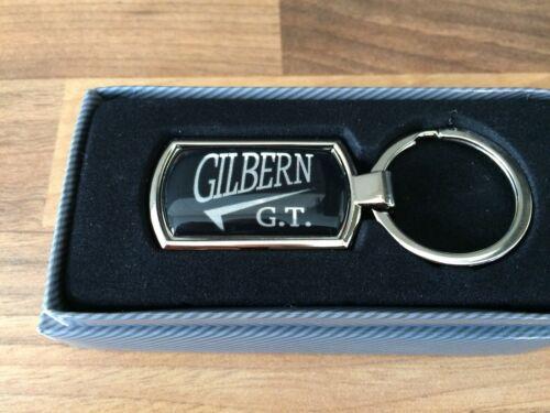 GILBERN GT  METALLIC CHROME CHUNKY KEYRING GILBERN GT GILBERN KEYRING GIFT