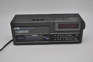 Vintage-Sears-Am-Fm-Cassette-Clock-Radio-Tape-Player-Alarm-225-23415-850