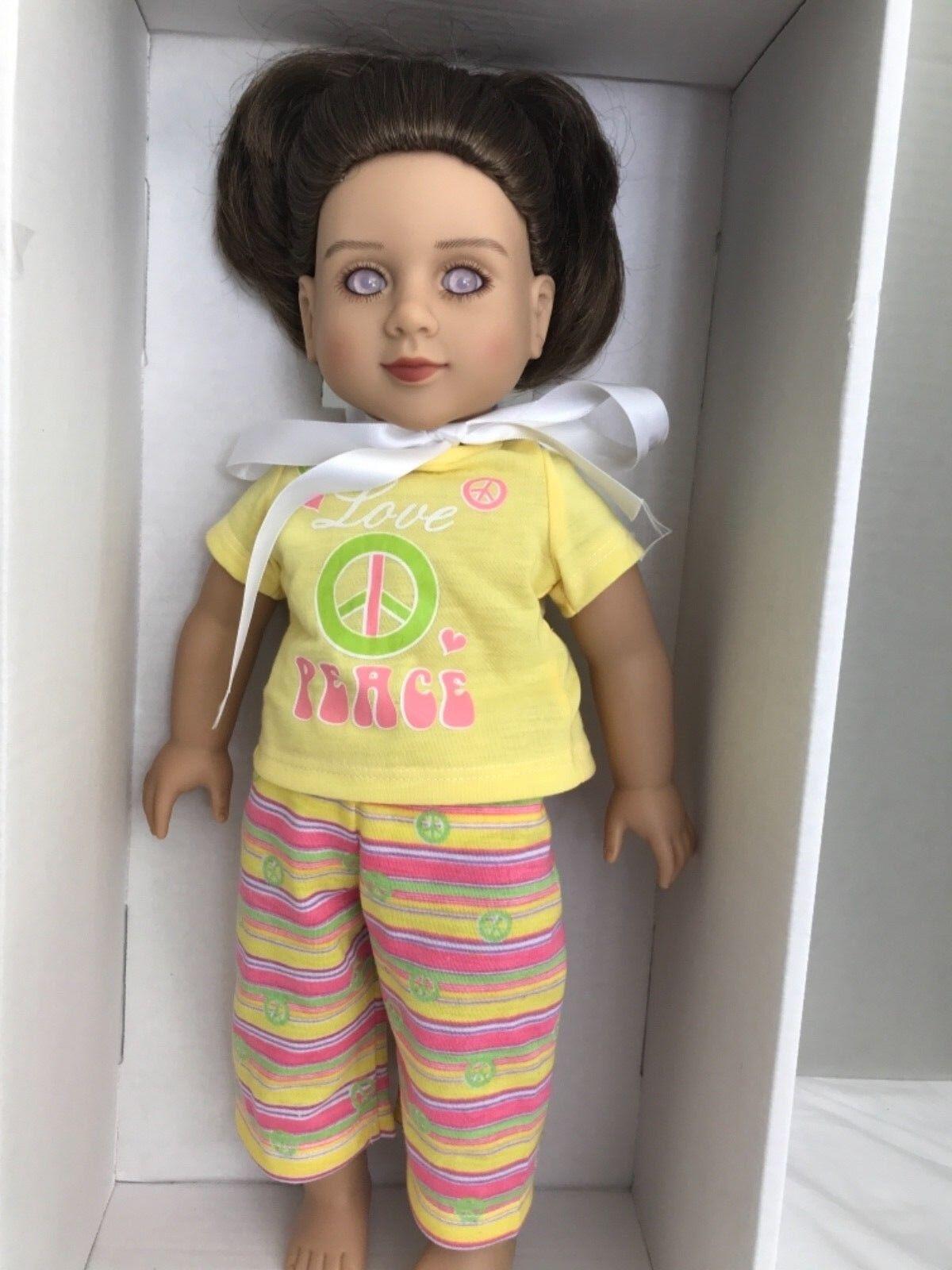 """My Twinn 18"""" Doll 2013 with braun Hair lila Eyes (AD 2)"""