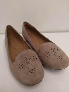 Ladies-Clarks-Shoes-Size-6-suede-feel-casual-slip-on-smart