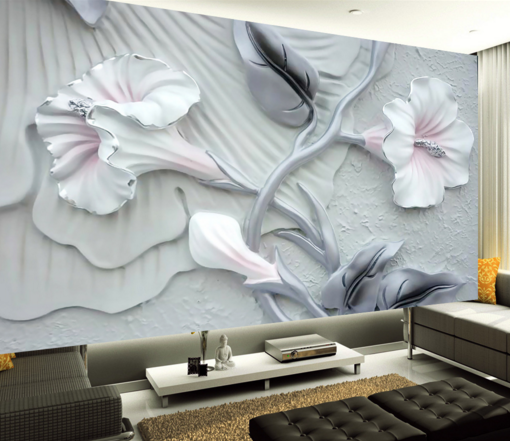 3D Petals Carve 5646 Wallpaper Murals Wall Print Wallpaper Mural AJ WALL UK Kyra