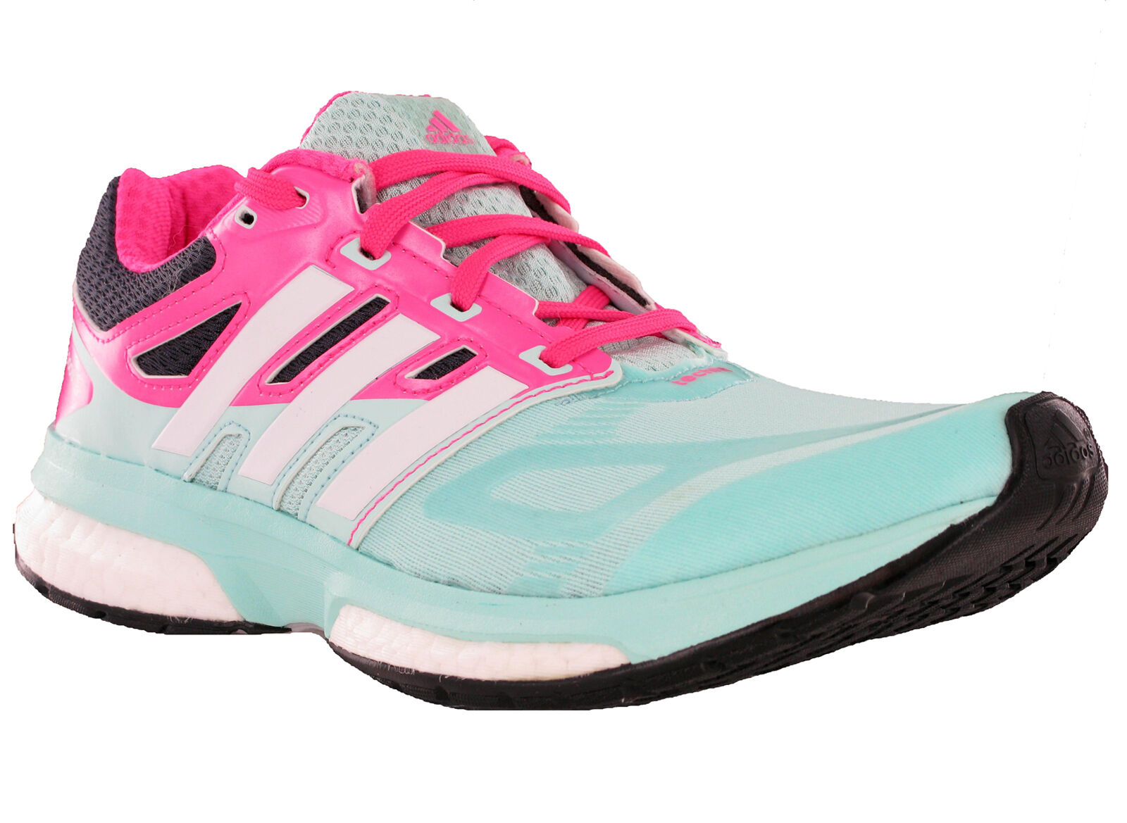 Adidas Response Boost Techfit rose Mesh Ortholite fonctionnement vert rose Techfit Trainers d9b870