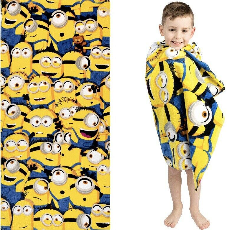 Minions Pile Up Beach Towel 28 x 58 inches Free Shipping