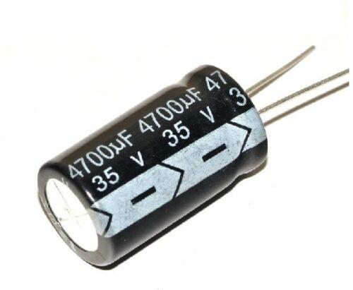 20pcs Condensateurs électrolytiques 4700uF 35 V nouveau Radial 18*32MM