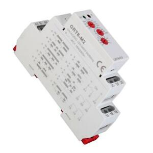 KSTE Multifonctions GRT8-M2 D/élai relais avec 10 fonctions rail DIN AC//DC 12V-240V