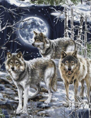 Patchwork sustancia lobos sustancias animal motivos patchwork algodón Dog perros Wolf Wolves