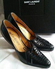 Yves Saint Laurent Rive Gauche YSL Black Leather shoes Eu37 Uk4.5