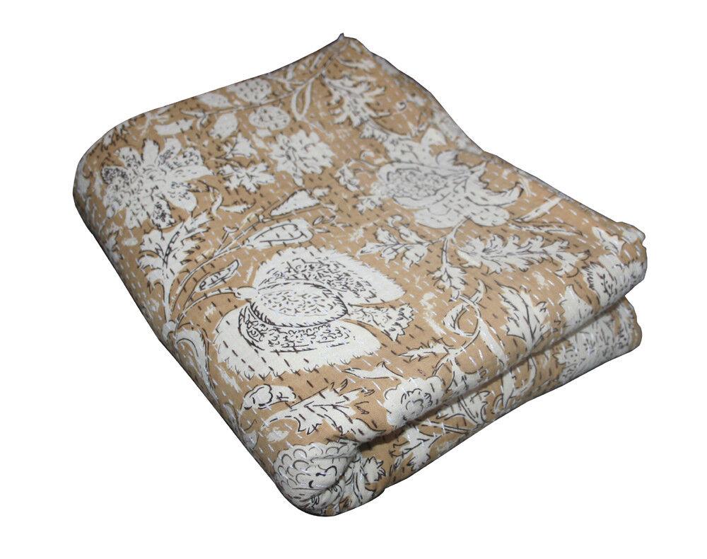 Vintage Kantha Gudari Indian Handmade Bettspread Kantha Blanket Bettding Throw