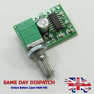 Details about PAM8403 module mini digital amplifier board 2 * 3W Class D  with switch pot #E75