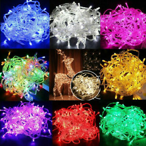 100-LED-10M-Christmas-Tree-Fairy-String-Party-Lights-Xmax-Waterproof-Color-Lamp