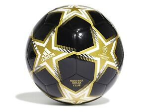 PALLONE CALCIO CHAMPIONS LEAGUE  ADIDAS  GT7790  UCL CLUB PS BLACK/GOLD METALLIC