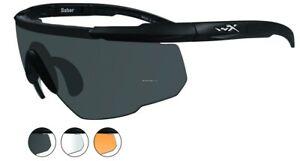 1f9355ea7a Wiley X Saber Advanced Grey   Clear Lens Matte Black Frame 308 WileyX