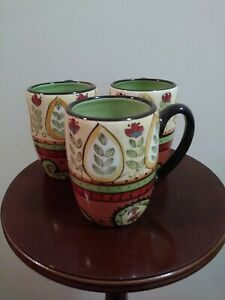 Set-of-3-Table-Tops-Unlimited-Espana-Paisley-Lexi-Pine-Mug-4-Southwest