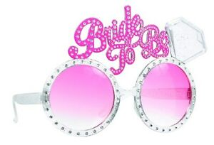 13506465d70 Bride To Be Glasses Diamond Ring Pink Bling Bachelorette Party ...