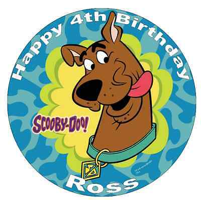Scooby Doo Personalised Cake Topper Edible Wafer Paper 7.5 ...