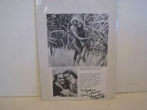 Brooke-Shields-Autographed-magazine-page-incribed-to-bob